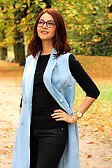 Iné oblečenie - Svetlo modrá vesta - 7198107_