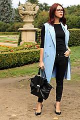 Iné oblečenie - Svetlo modrá vesta - 7198116_