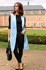 Iné oblečenie - Svetlo modrá vesta - 7198119_