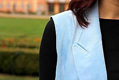 Iné oblečenie - Svetlo modrá vesta - 7198125_