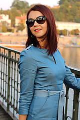 Šaty - Denimové šaty - svetlé - 7198300_