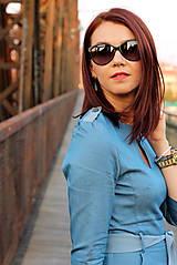 Šaty - Denimové šaty - svetlé - 7198302_
