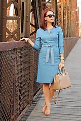 Šaty - Denimové šaty - svetlé - 7198304_