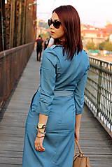 Šaty - Denimové šaty - svetlé - 7198308_