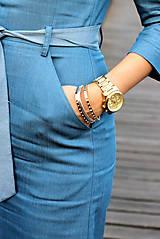 Šaty - Denimové šaty - svetlé - 7198311_