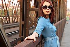 Šaty - Denimové šaty - svetlé - 7198313_