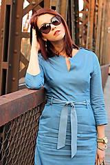 Šaty - Denimové šaty - svetlé - 7198328_