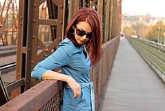 Šaty - Denimové šaty - svetlé - 7198329_