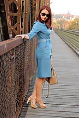 Šaty - Denimové šaty - svetlé - 7198331_