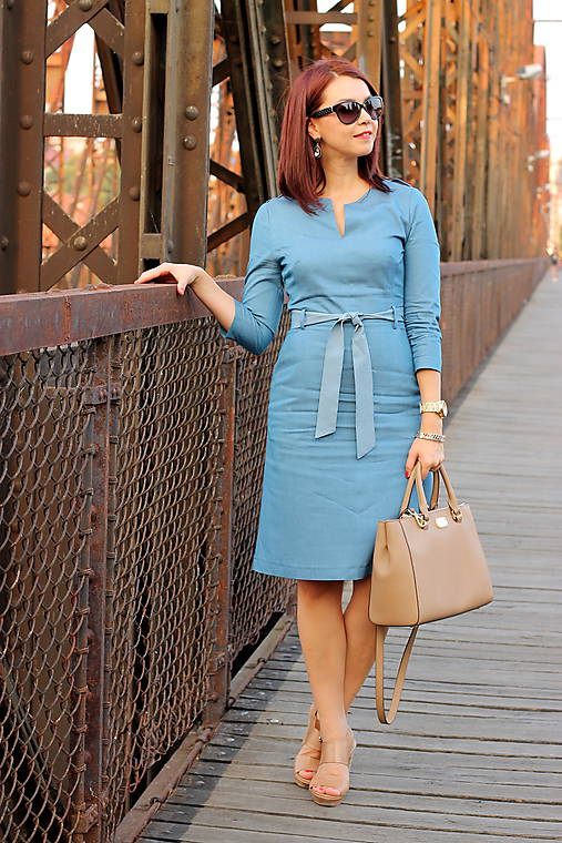 Denimové šaty - svetlé