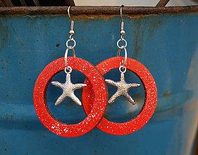 Náušnice - Hviezdice v kruhu - 7199618_
