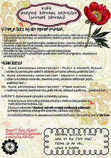 Kurzy - Dizajnové záhrady zajtrajška (kurz) - 7199761_