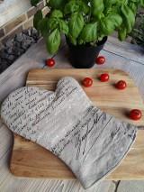 Úžitkový textil - Ľanová kuchynská chňapka Manuscrit - 7196777_