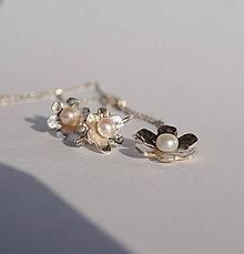 Sady šperkov - Súprava kvietková s perlou - 7201220_