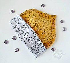Detské čiapky - Detská čiapka obojstranná - origami - 7201260_
