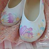 Obuv - Kvetinové svadobné balerínky - 7203770_