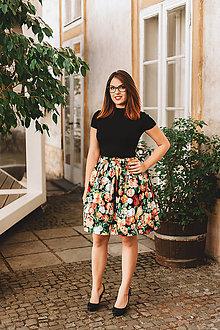 Sukne - Zavinovací sukně Podzimní květy - 7200794_
