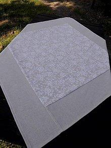Úžitkový textil - STŘEDOVÝ UBRUS ..90 x 90 cm růžičky - 7201861_