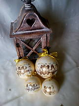 Dekorácie - Vianočné gule Anjeli - 7200474_