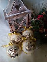 Dekorácie - Vianočné gule Zimná krajinka - 7200509_
