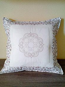 Úžitkový textil - Patchworkový vankúš - 7201543_