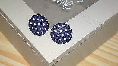 Náušnice - buttonkové náušnice puntíky - 7203605_