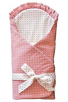 Textil - Detská zavinovačka - ružová , bodkovaná - 7203623_