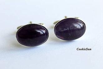 Šperky - Manžetové gombíky Ametyst - 7203904_