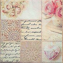 Papier - servítka vintage - 7200341_
