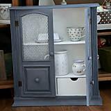 Nábytok - Sivá závesná skrinka - predaná - 7201262_