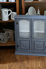 Nábytok - Sivá závesná skrinka - predaná - 7201267_