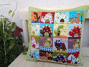 Textil - Dinosaurové vankúšiky - 7200575_