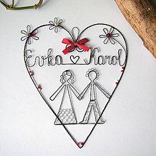 Dekorácie - svadobné s menami - 7204970_