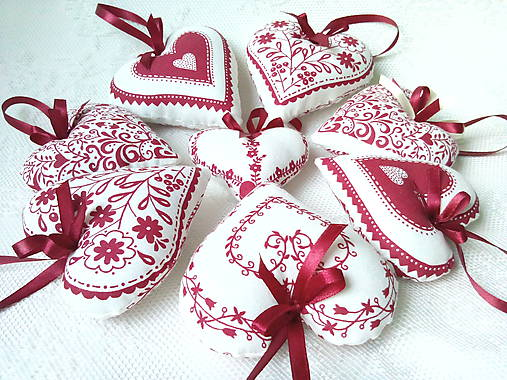 Red folklore hearts