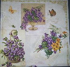 Papier - Servítka Kvety - 7204033_
