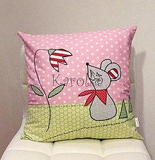 Textil - Detský bavlnený vankúšik - Rozprávkový (4) - 7206911_