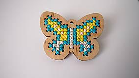 Odznaky/Brošne - Drevené brošne - motýle - 7207719_
