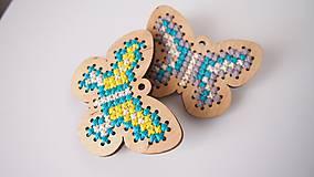 Odznaky/Brošne - Drevené brošne - motýle - 7207721_