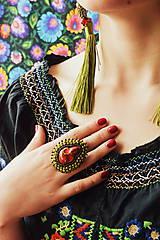 - Calaveritas - vyšívaný prsten - 7208268_