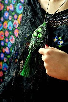 Náhrdelníky - Calaveritas  - Vyšívaný náhrdelník - 7208149_