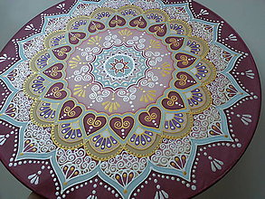 Dekorácie - Mandala pre šťastné partnerstvo a lásku - 7205886_