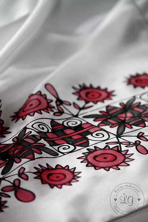 hodvábna šatka ZáRIEČIE červené
