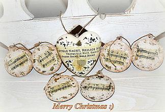 "Dekorácie - Vianočny set ""Silent night"" :) - 7205321_"