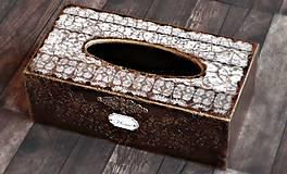 Krabičky - Krabica na vreckovky HOME čipka štýlová 2 - 7207285_