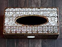 Krabičky - Krabica na vreckovky HOME čipka štýlová 2 - 7207286_