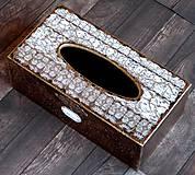 Krabičky - Krabica na vreckovky HOME čipka štýlová 2 - 7207287_