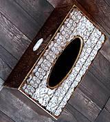 Krabičky - Krabica na vreckovky HOME čipka štýlová 2 - 7207288_
