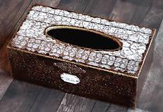 Krabičky - Krabica na vreckovky HOME čipka štýlová 2 - 7207290_