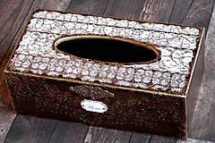 Krabičky - Krabica na vreckovky HOME čipka štýlová 2 - 7207291_