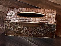 Krabičky - Krabica na vreckovky HOME čipka štýlová 2 - 7207294_
